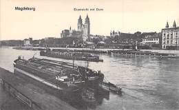 DEUTSCHLAND Allemagne ( Saxe Anhalt ) MAGDEBURG : Elbansicht Mit Dom ( Bon Plan Péniche  Barge Lastkähne Aken Chiatte Ba - Magdeburg