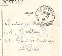 GUERRE 14/18 - CACHET MILITAIRE -51e REGt INFANTERIE -CENTRE INSTRUCTION DE LESNEVEN (Finistère) 1916 Sur CPA    Ref E33 - Marcophilie (Lettres)