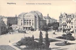 DEUTSCHLAND Allemagne ( Saxe Anhalt ) MAGDEBURG : Zentraltheater Mit Kaiser-Wilhem Platz - CPA - Germany - Magdeburg
