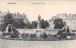 DEUTSCHLAND Allemagne ( Saxe Anhalt ) MAGDEBURG : Kaiser Wilhelm  Platz - CPA - Germany - Magdeburg