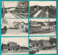 48 CP Avec Trains MONTFORT/MEU_EMERAINVILLE-PONTAULT_VILLIERS-MONTBARBIN_3 Sans Trains_Vendanges_ Mines_ Moutarde.N °029 - Postcards