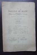 La Province Du Mainefondee En 1893 Par Les Abbés Ledru Dubois Bruneau 1928 - Documents Historiques