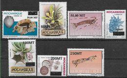 1994 MOZAMBIQUE 1259-65** Surchargés, Crustacés, Fleurs, Fruit, Archéologie - Mozambique