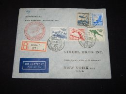 Germany 1936 Registered Luftpost Cover To USA__(L-11376) - Allemagne