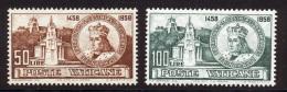 Vatican 1959 Yvert 282 / 283 ** TB - Vatican