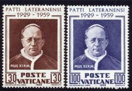 Vatican 1959 Yvert 272 / 273 ** TB - Vatican