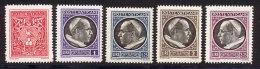 Vatican 1940 Yvert 90 / 94 ** TB Bord De Feuille - Vatican