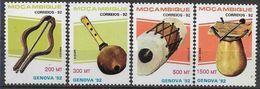 1992 MOZAMBIQUE 1231-34** Instruments De Musique - Mozambique