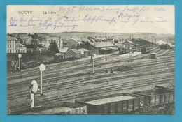 CPA - Chemin De Fer La Gare GOUVY Belgique - Sonstige