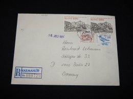 Iceland 1984 Varmahlid Registered Cover To Germany__(L-12420) - Storia Postale