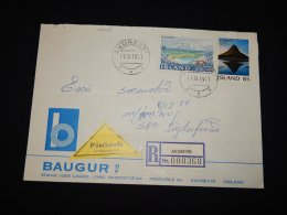 Iceland 1997 Akureyri Registered Cover__(L-12445) - 1944-... Republique