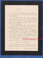 Document De 1897 - VALCOURT ( Haute Marne ) - Monsieur Louis CHAROY - Inhumation à BAR LE DUC - Documents Historiques