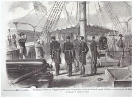 Gravure 1867 BOULOGNE SUR MER    RECEPTION DU VICE ROI  D EGYPTE   SUR LE LIMIER    Commande Par Bruat - Non Classés