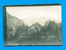 Chamonix 1926 - Les Houches Vers Vaudagne - Photo Originale - Voir Scans - Lieux