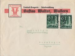 DR Werbebrief Gustav Walter, Wallern Mef Minr.2x 714 Wallern Böhmerwald 29.3.40 - Deutschland