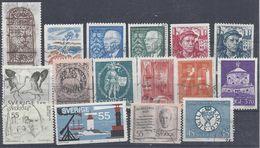 Schweden Mix Set Stamps Of Sweden Suède Suecia Svezia Zweden Small Selection Of Fine Used 858 - Schweden