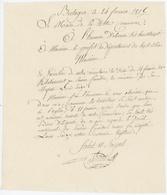 Bretagne Territoire De Belfort 1815 Service Funèbre Louis XVI - Documents Historiques