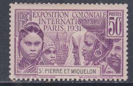 St Pierre Et Miquelon N° 133 XX Partie De Série Exposition Coloniale De Paris : 50 C Violet Sans Charnière, TB - Unused Stamps
