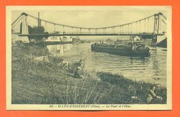"""CPA 60 Saint Leu D'esserent """" Le Pont Et L'oise """" LJCP 60 - France"""