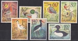 Brk_ Tschechoslowakei CSSR - Mi.Nr. 1681 - 1687 - Postfrisch MNH - Vögel Birds - Ungebraucht