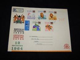 Kenya 1964 Registered Cover To Tanzania__(LB-376) - Kenya (1963-...)