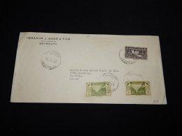 Lebanon 1936 Beyrouth Air Mail Cover To USA__(LB-22) - Lebanon