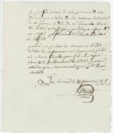 """La Rivière 1815 La Messe N'a Pas Eut Lieu """"Curé Malade"""" - Documents Historiques"""