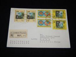Lebanon 1984 Hopeida Registered Cover To Austria__(L-12377) - Lebanon
