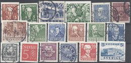 Schweden Mix Set Stamps Of Sweden Suède Suecia Svezia Zweden Small Selection Of Fine Used 871 - Schweden