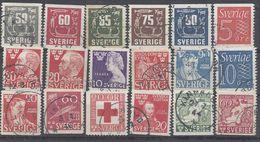 Schweden Mix Set Stamps Of Sweden Suède Suecia Svezia Zweden Small Selection Of Fine Used 872 - Schweden