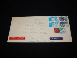 Mexico 1984 Registered Air Mail Cover To DDR__(LB-420) - Mexico