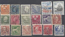 Schweden Mix Set Stamps Of Sweden Suède Suecia Svezia Zweden Small Selection Of Fine Used 1001 - Schweden