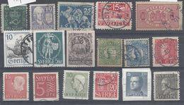 Schweden Mix Set Stamps Of Sweden Suède Suecia Svezia Zweden Small Selection Of Fine Used 1003 - Schweden