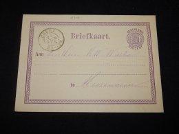 Netherlands 1874 Breda 2,5c Violet Stationery Card__(L-11306) - Ganzsachen