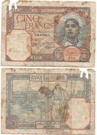 Algeria - 5 Francs 1941 Poor Lemberg-Zp - Algerije