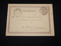 Netherlands 1876 Zaandam 2,5c Violet Stationery Card__(L-11322) - Ganzsachen