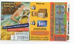 """2009 Lotteria Italia, Abbinata Alla Trasmissione """" Affari Tuoi """"  . Estrazione 6 Gen.2010 - Lottery Tickets"""