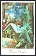 BONNE ANNEE - GELUKKIG NIEUWJAAR -  Village Enneigé - Circulé - Circulated - Gelaufen -1972. - Nouvel An