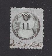 1 Fl. Stempelmarke Lombardei-Venetien Mai 1860 - Ohne WZ. Gezähnt 13 1/2 - 15 1/2 - Dunkelblaues Papier - Lombardy-Venetia