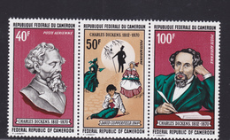CAMEROUN AERIENS N°  173A ** MNH Neufs Sans Charnière, Triptyque, TB (D5047) Charles Dickens - Cameroun (1960-...)