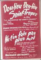 Partitions Editions Pigalle De 1964 Ne T'en Fais Pas Pour Moi Engegistré Par Richard Antony Et Dou-liou Dou-liou - Scores & Partitions