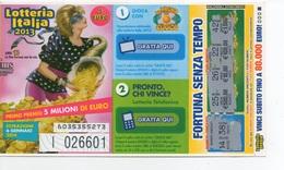 """2013 Lotteria Italia, Abbinata Alla Trasmissione """" La Prova Del Cuoco """"  . Estrazione 6 Gen.2014 - Biglietti Della Lotteria"""