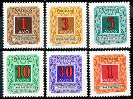 !■■■■■ds■■ Timor Postage Due 1952 AF#31-36* Rainbow Complete Set (x5773) - Timor