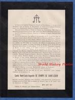 Document De 1903 - Château De MOUASSE Par CHATEAU CHINON ( Nièvre )- Comte Henri Louis Augustin De CHAMPS De SAINT LEGER - Documents Historiques