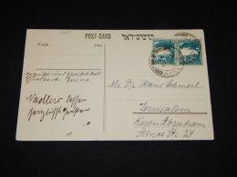 Palestine 1937 Postcard To Jerusalem__(L-11018) - Palestine