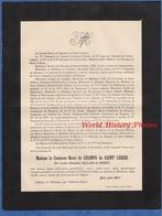 Document De 1894- Château De MOUASSE ( Nièvre ) Comtesse Henri CHAMPS De SAINT LEGER  Louise Ernestine CELLARD Du SORDET - Documents Historiques