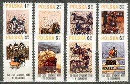 POLAND MNH ** 2483-2490 HARAS DE SIERAKOW CHEVAL CHEVAUX EQUIPAGE CALECHE CHARRETTE - Unused Stamps