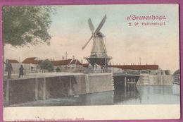 Orig.AK ,  S``Gravenhage, Z.w. Suitensingel,mit Brücke  Mühle Moulin ,Molen, - Moulins à Vent