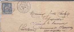 LETTRE--47----AGEN----BOURRAN-- CLAIRAC 1885--voir 3 Scans - Marcofilie (Brieven)