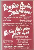 Partitions Editions Pigalle De 1964 Ne T'en Fais Pas Pour Moi Enregistré Par Richard Anthony Dou-liou Dou-liou St Tropez - Partitions Musicales Anciennes